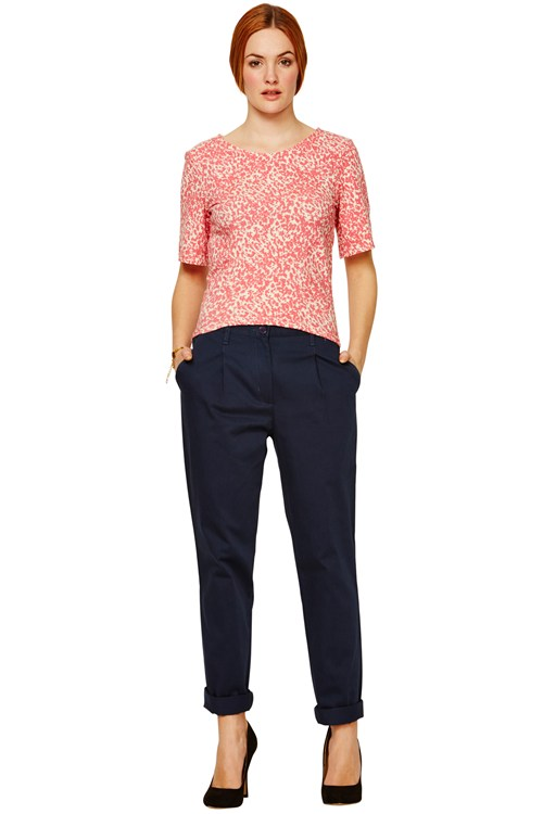 Clara Chino Trousers in Navy