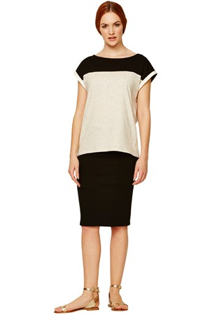 Florence Colour Block Top in Beige