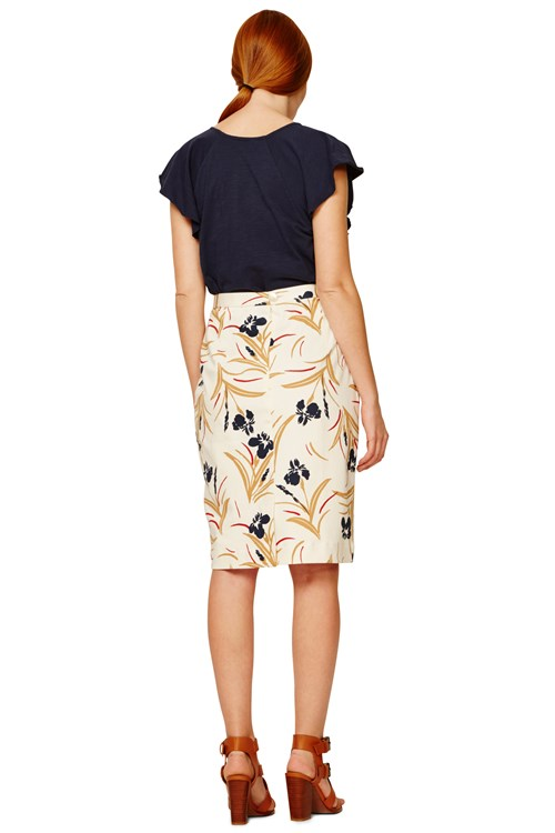 People Tree | Helen Pencil Skirt in Multi