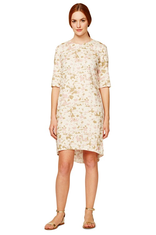 Lizzie Dress in Pink from People Tree