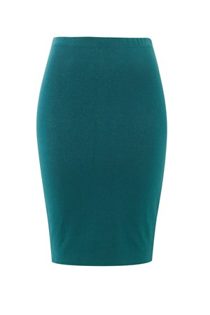 Magda Pencil Skirt in Teal