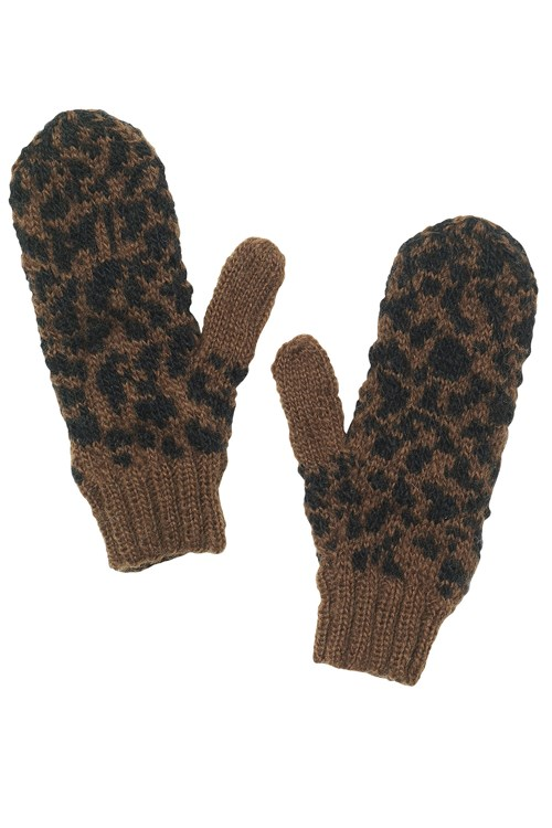 Animal Print Mittens from People Tree