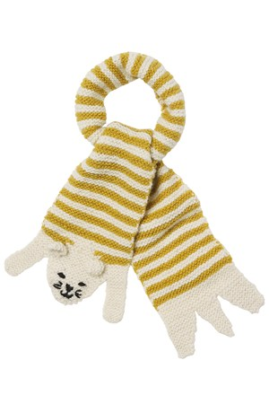 Cat Scarf in Yellow Stripe