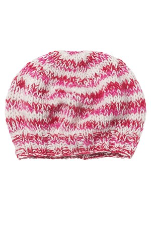 Mixed Yarn Hat in Pink