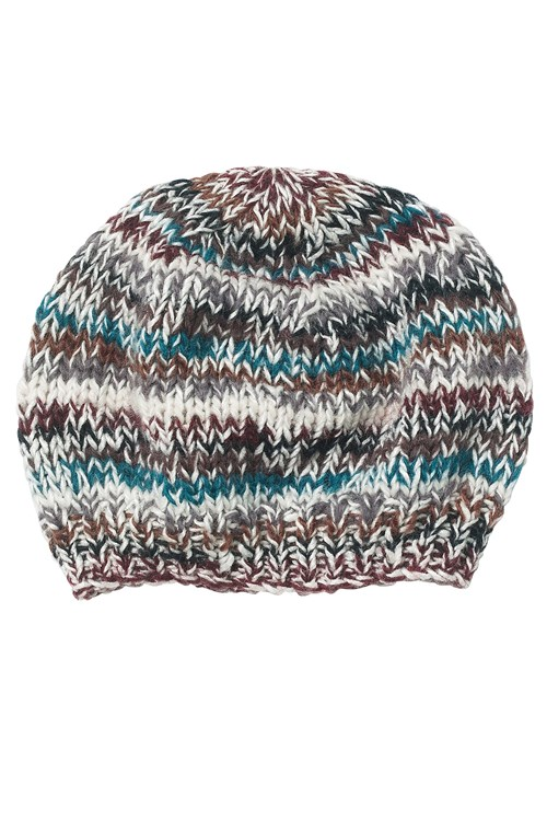 Mixed Yarn Hat in Teal