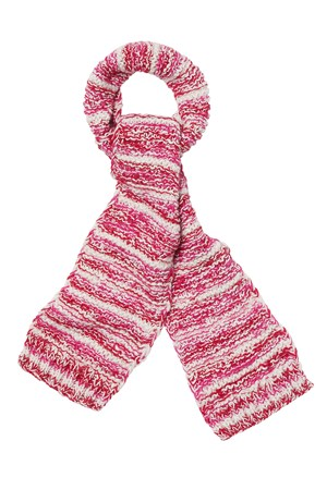 Mixed Yarn Scarf in Pink
