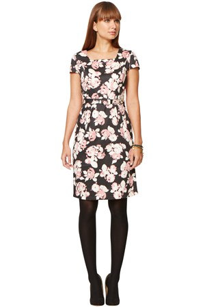 Bella Rose Print Dress