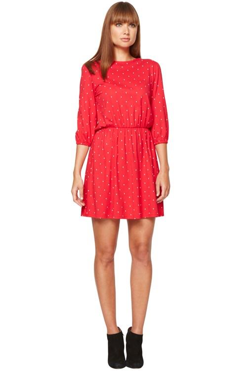 Claudia Diamond Print Dress from People Tree