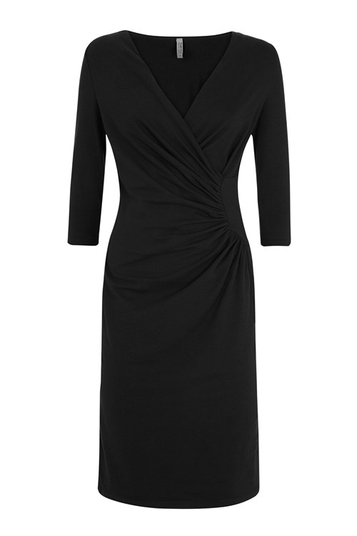 Stella Fitted Dress in Black
