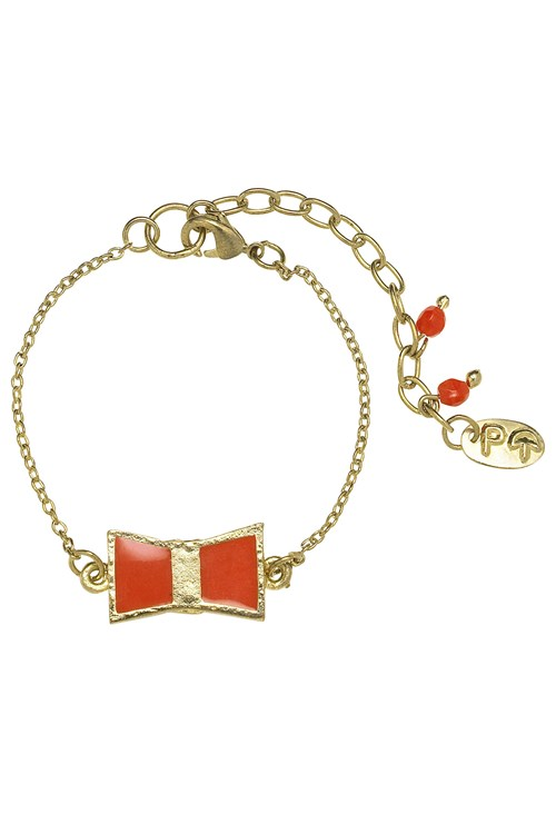 Bow Bracelet in Red from People Tree