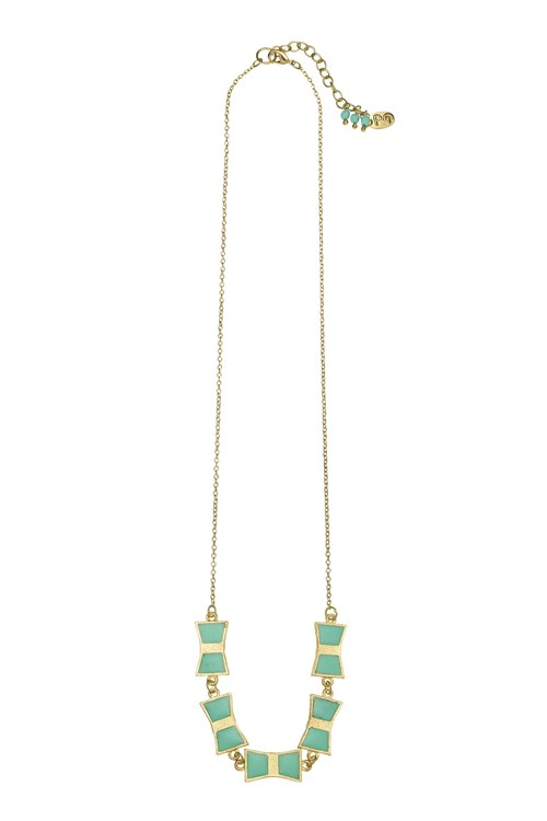 Bow Necklace in Green