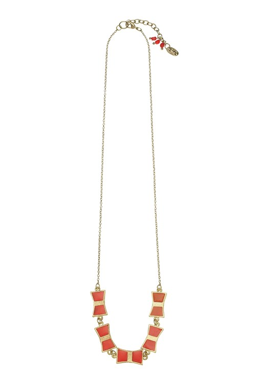 Bow Necklace in Red