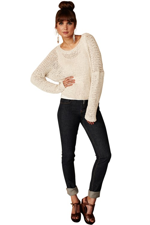 Emily Cotton Cropped Jumper