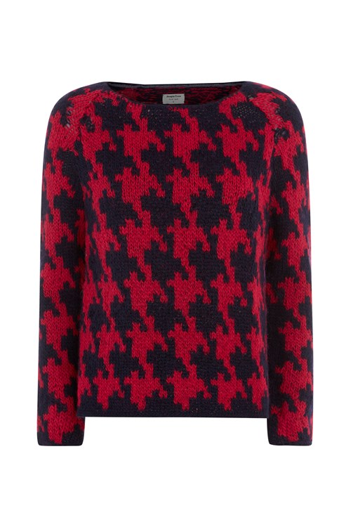 Houndstooth Jumper in Red