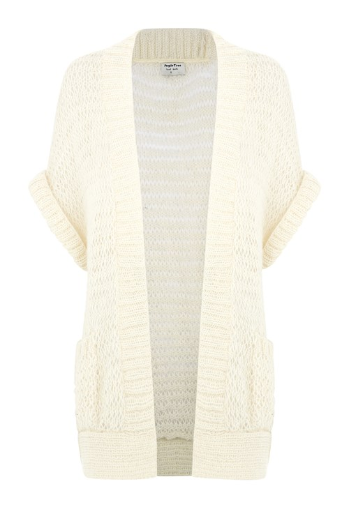 Kerry Slouch Cardigan in Eco-White