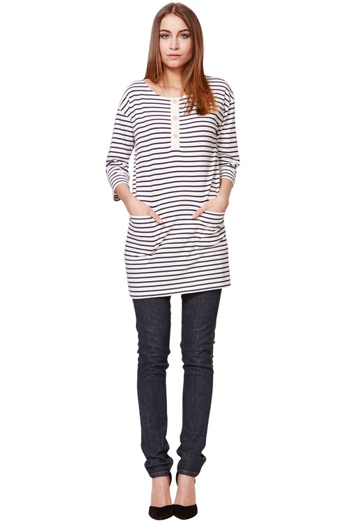 Eliza Tunic in Navy Stripe