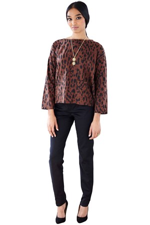 Libby Animal Print Top