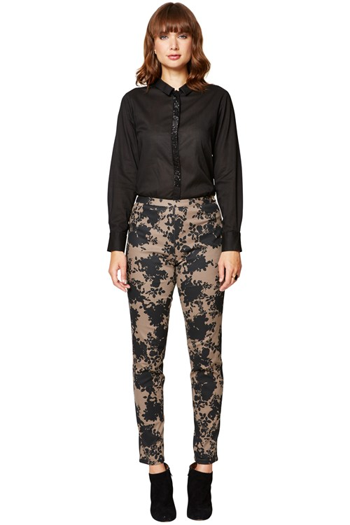 Bouquet Print Jane Trouser