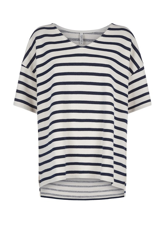Shannon Loopback Top in Navy Stripe from People Tree
