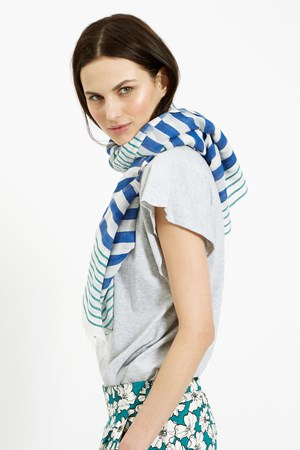 Striped Scarf in Blue