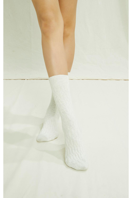 Cable Socks in Cream