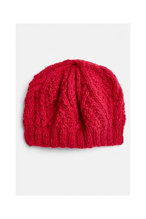 Cable Beret in Pink