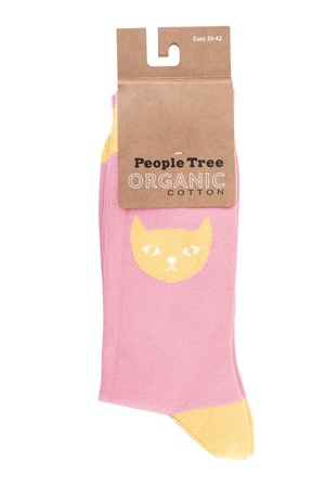 Cat Socks In Pink