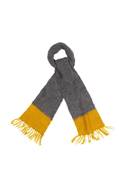 Colour Block Scarf in Grey