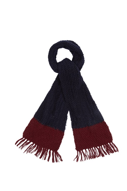 Colour Block Scarf in Navy