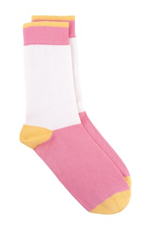 Colourblock Socks In Pink