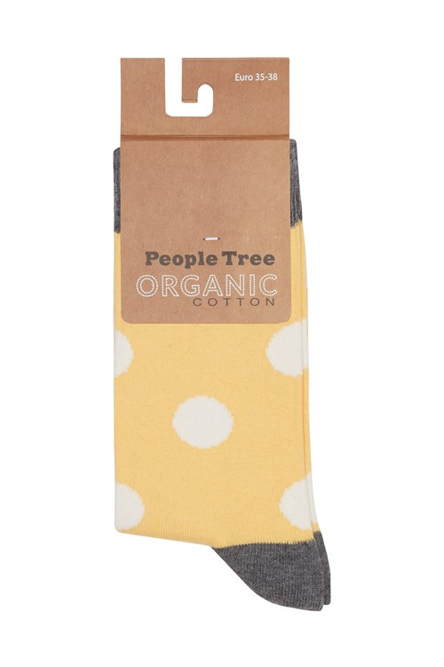 Dot Socks in Yellow