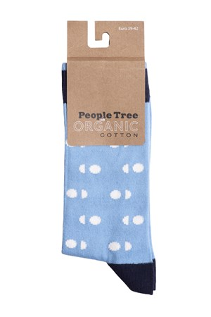 Double Dot Socks In Blue