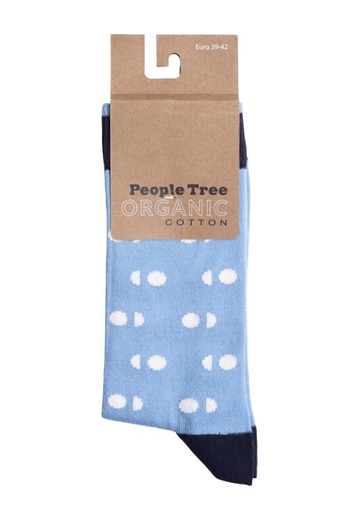 Double Dot Socks In Blue from People Tree