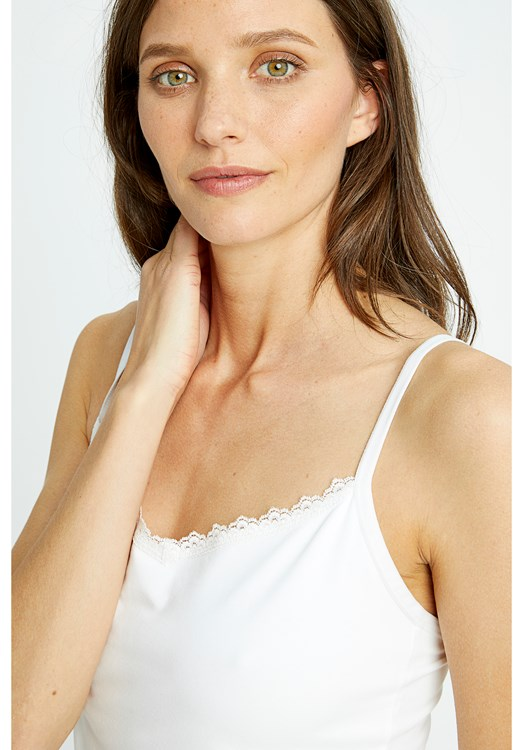 Hidden Support Camisole in White