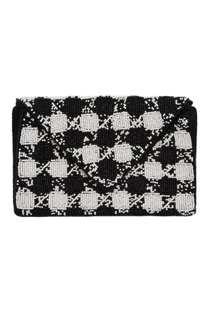 Houndstooth Envelope Clutch