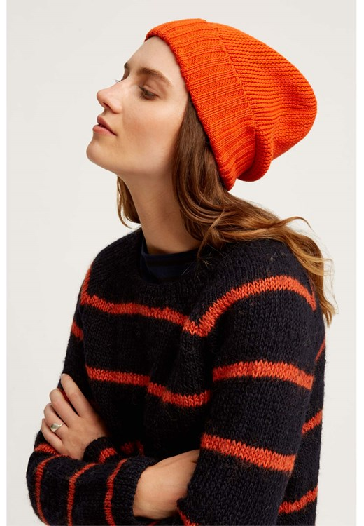 Knitted Hat Orange from People Tree