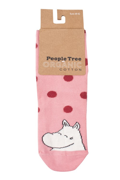 Moomin Dot Socks In Pink