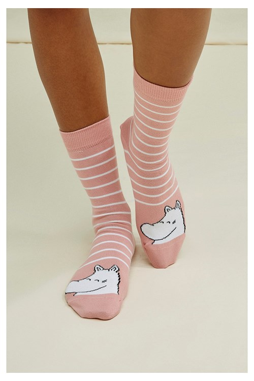 Moomin Dot Socks Pink
