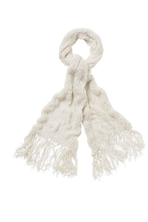 Open Knit Shawl in Eco White