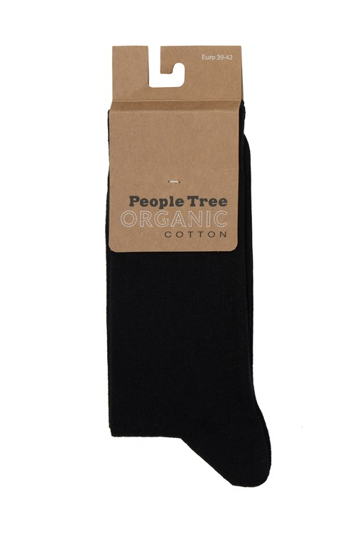Organic Cotton Socks in Black 35-38 from People Tree