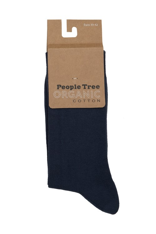 Organic Cotton Socks in Navy 35-38 from People Tree