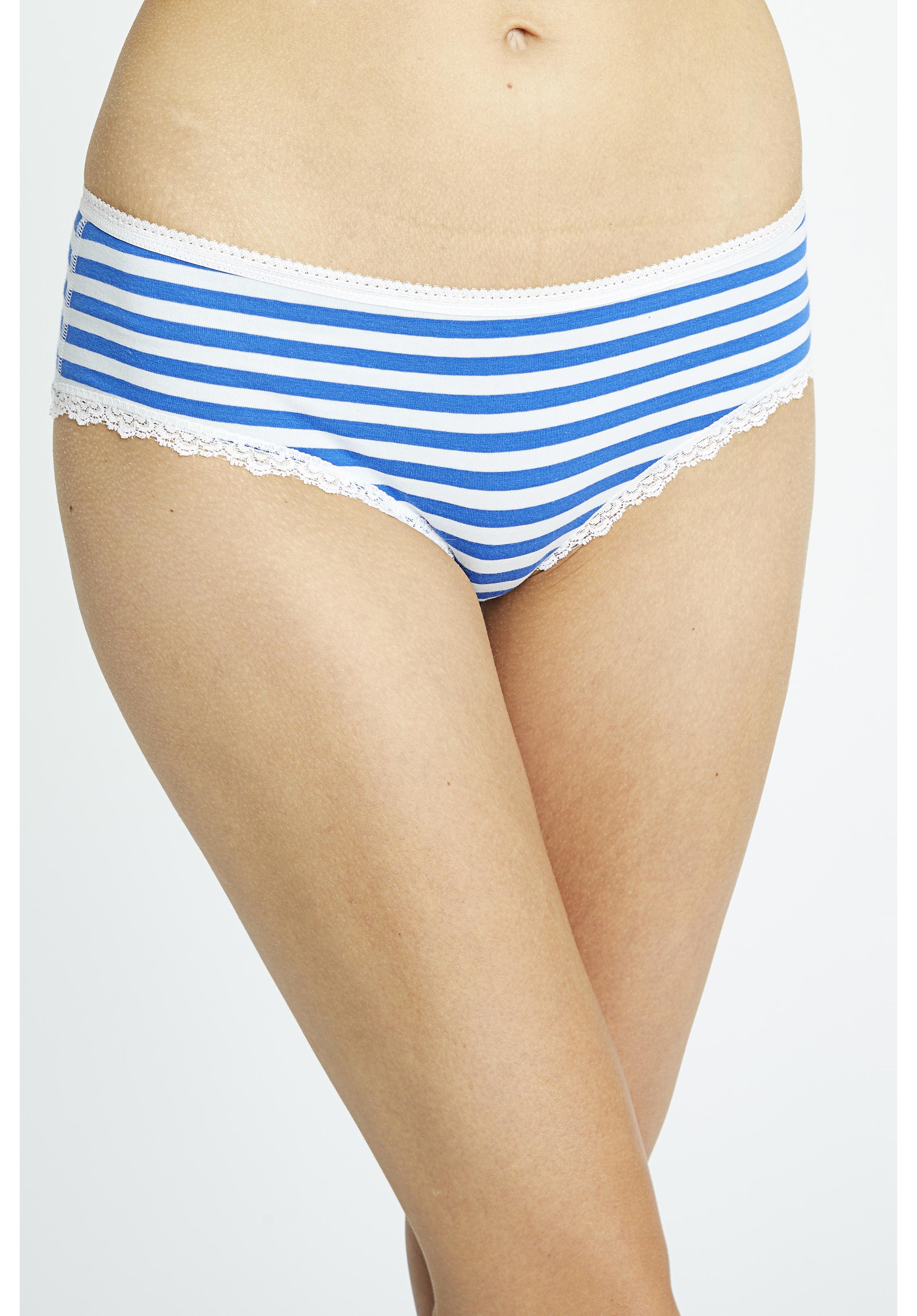 7c4eb97d3f UNDERWEAR - Stripe Lace Hipster in Light Blue