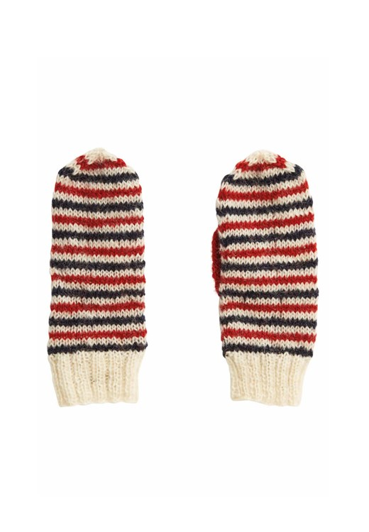Stripe Mittens from People Tree