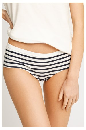 Low Rise Shorts in Blue Stripes