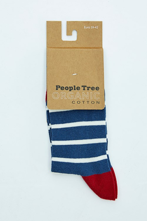 Striped Socks in Blue and Red