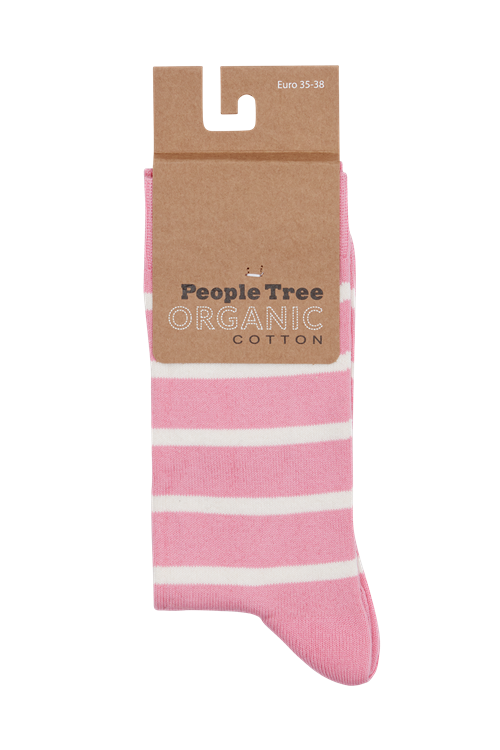 Striped Socks in Pink