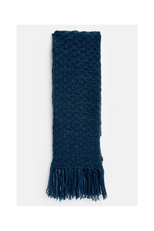 Textured Scarf in Blue