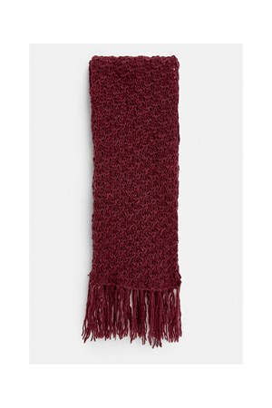 Textured Scarf in Burgundy