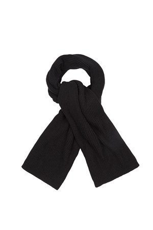 Tuck Knit Scarf in Black
