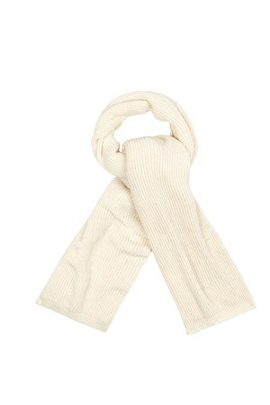 Tuck Knit Scarf in Winter White